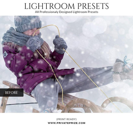 Christmas winter - LightRoom Presets Set - Photography Photoshop Template