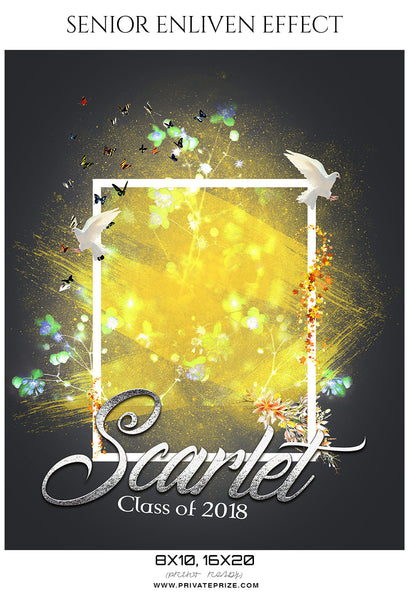 Scarlet - Senior Enliven Effect Photography Template - Photography Photoshop Template