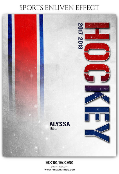 ALYSSA JEFF HOCKEY - SPORTS PHOTOGRAPHY TEMPLATE - Photography Photoshop Template