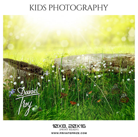 Daniel Troy - Kids Photography Template - Photography Photoshop Template