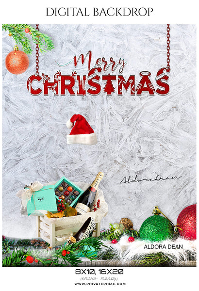 Aldora Dean - Christmas Digital Backdrop - Photography Photoshop Template