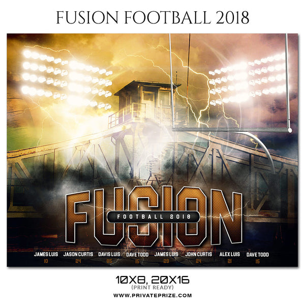 Fusion Football Themed Sports Photography Template - Photography Photoshop Template