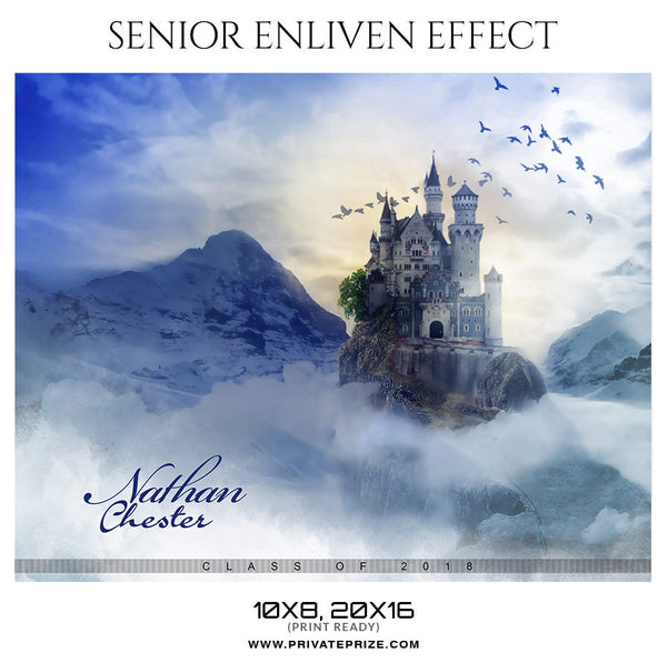 NATHAN CHESTER - SENIOR ENLIVEN EFFECT - Photography Photoshop Template