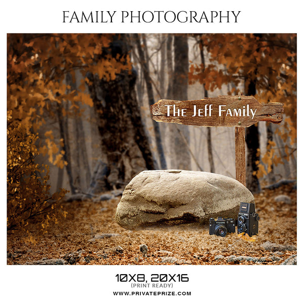 The Jeff Family - Kids Photography Photoshop Templates - Photography Photoshop Template