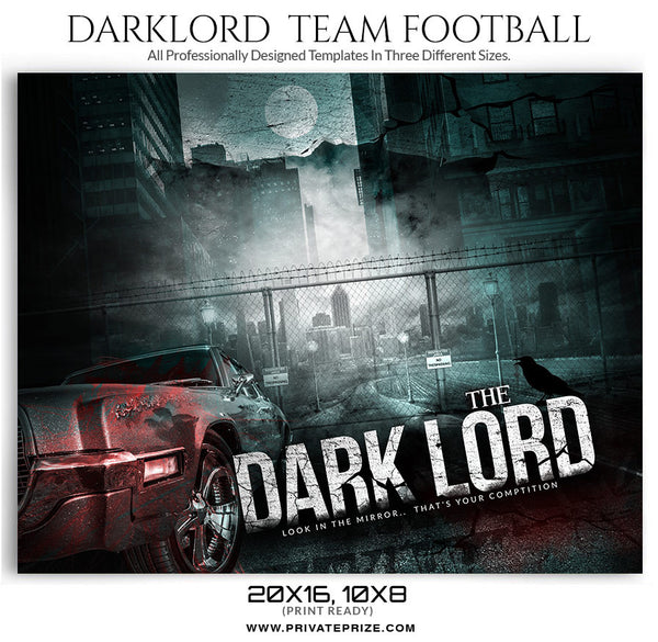 Dark Lord Sports Template - Photography Photoshop Templates