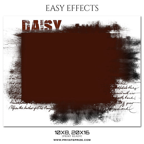 DAISY - EASY EFFECTS - Photography Photoshop Template