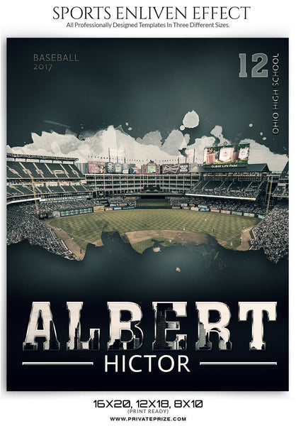 Albert Baseball Enliven Effect - Photography Photoshop Templates