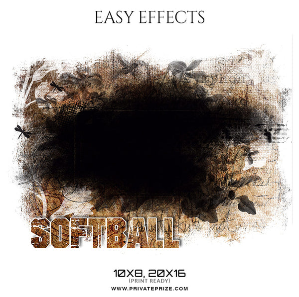 Viviana Paul - Softball - Easy Effect Sports Photography Template - Photography Photoshop Template
