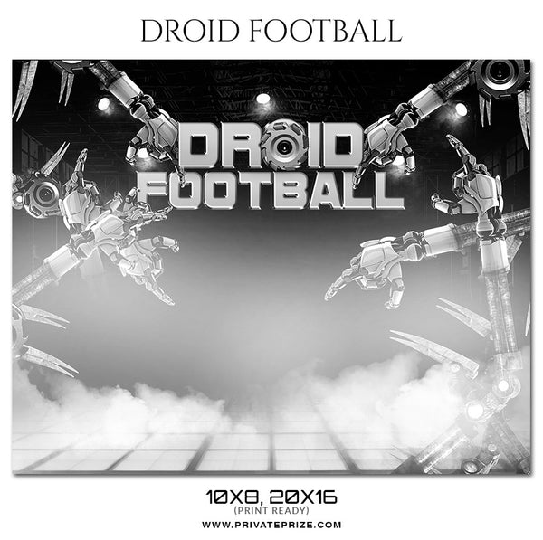 Droid Football Themed Sports Photography Template - Photography Photoshop Template