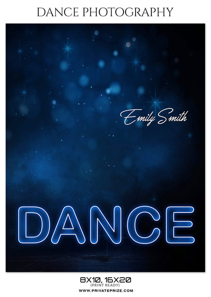 DANCE PHOTOGRAPHY PHOTOSHOP TEMPLATE