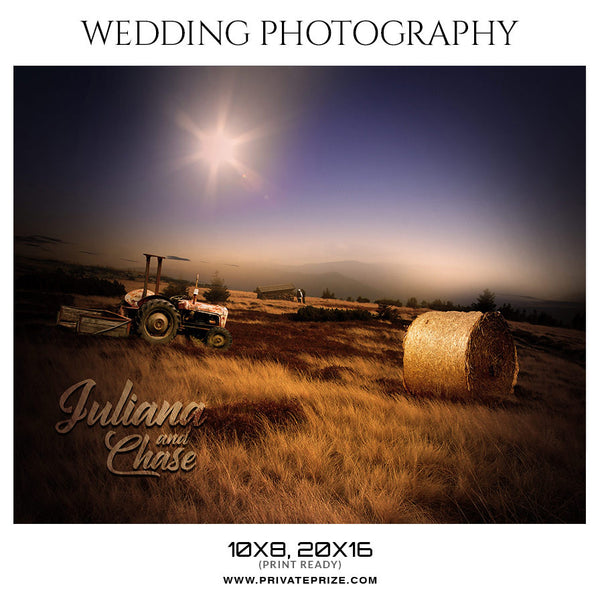 JULIANA AND CHASE -  WEDDING PHOTOGRAPHY - Photography Photoshop Template