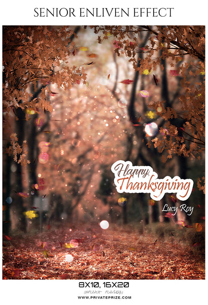 Lucy Roy  - Thanksgiving Digital Backdrop Template - Photography Photoshop Template