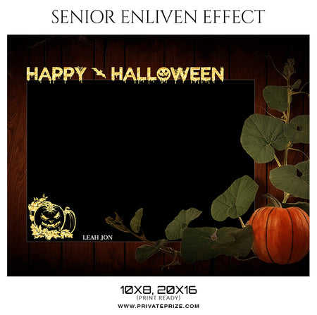 Leah Jon - Happy Halloween Senior Enliven Effect - Photography Photoshop Template