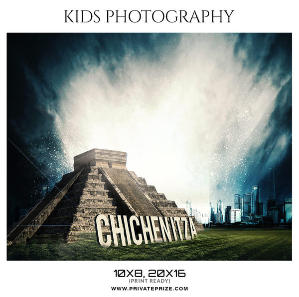 CHICHEN ITZA - KIDS PHOTOGRAPHY - Photography Photoshop Template