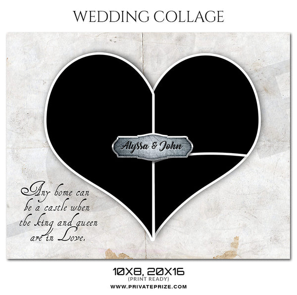 Alyssa and John - Wedding Collage Photography Template - Photography Photoshop Template