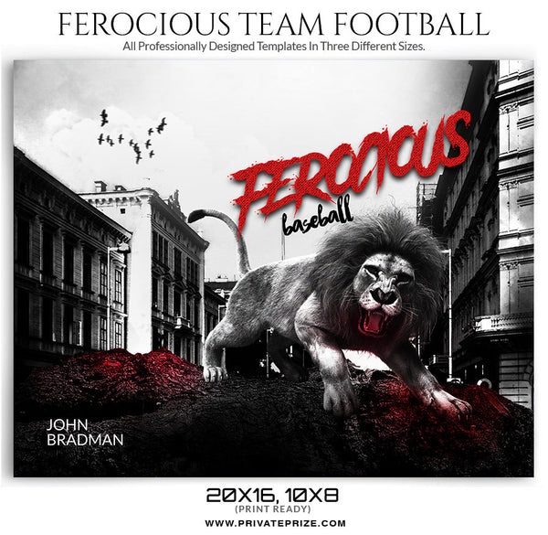 Ferocious Sports Template - Photography Photoshop Templates