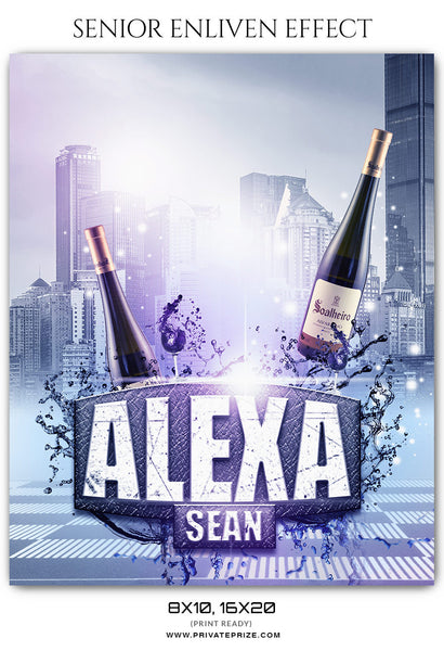 ALEXA SEAN - SENIOR ENLIVEN EFFECT - Photography Photoshop Template