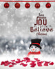 Love Peace Joy Girl Christmas Backdrop - Photography Photoshop Templates