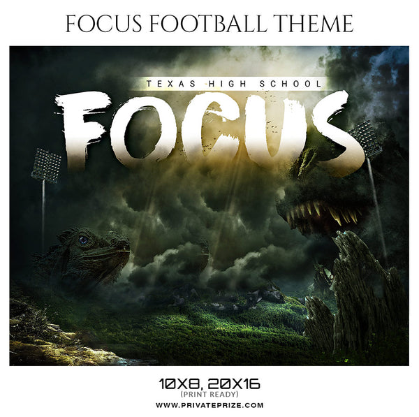 Focus Football Themed Sports Photography Template - Photography Photoshop Template