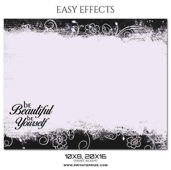 BE BEAUTIFUL- EASY EFFECTS - Photography Photoshop Template