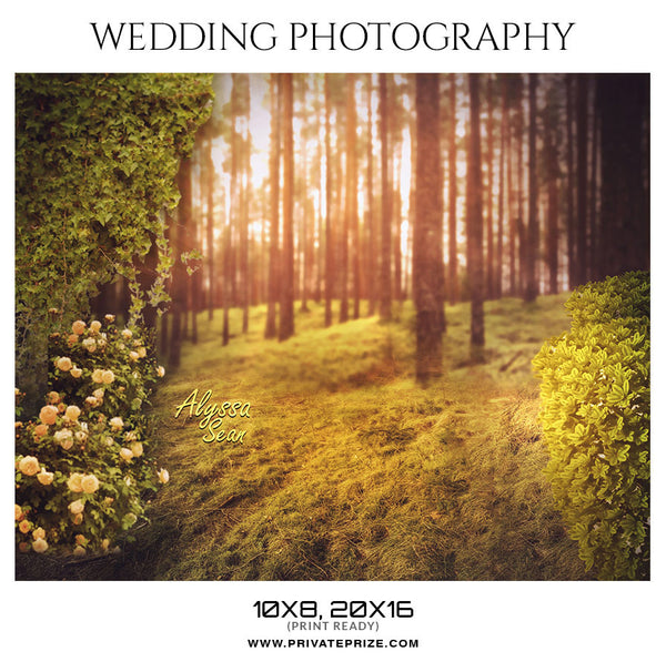 ALYSSA SEAN - WEDDING PHOTOGRAPHY - Photography Photoshop Template