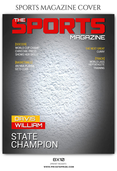 Davis Williams - Football Sports Photography Magazine Cover