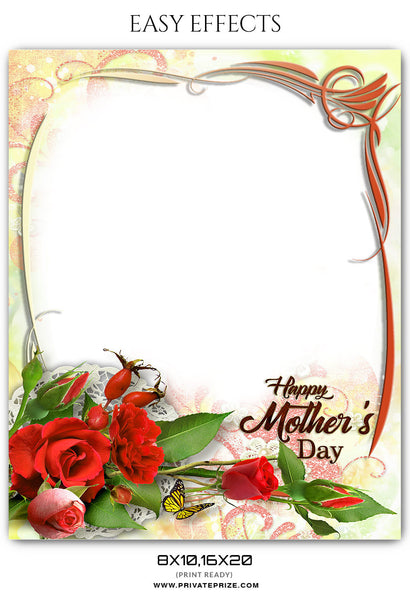 MOTHER'S DAY FRAME - EASY EFFECT - Photography Photoshop Template
