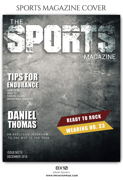 Daniel Thomas - Basketball Sports Photography Magazine Cover - Photography Photoshop Template