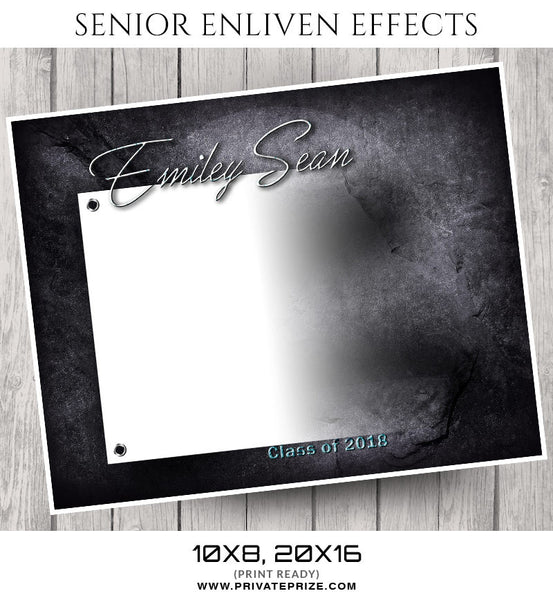 Emiley Sean- Senior Enliven Effects - Photography Photoshop Template