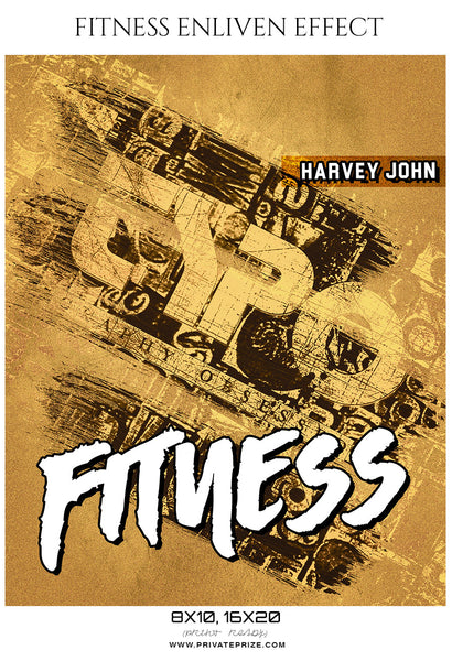 Harvey John - Fitness Sports Enliven Effects Photography Template - Photography Photoshop Template