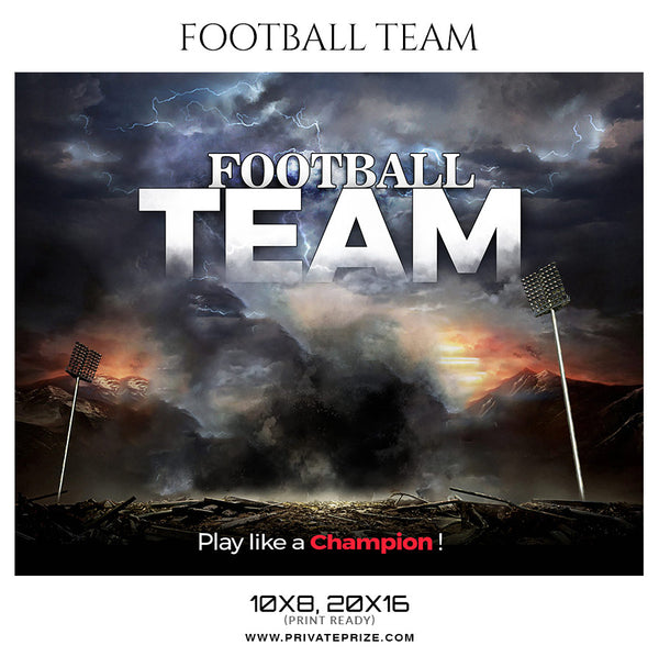 Football Team  Sports Theme Sports Photography Template - Photography Photoshop Template