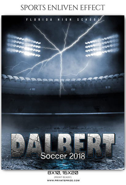 Dalbert - Soccer Sports Enliven Effects Photoshop Template - Photography Photoshop Template