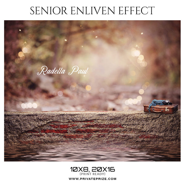 Radella Paul -Senior Enliven Effect Photography Template - Photography Photoshop Template