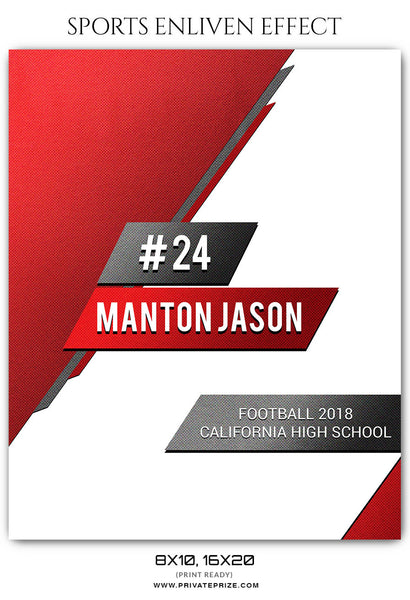 MANTON JASON - FOOTBALL SPORTS PHOTOGRAPHY - Photography Photoshop Template