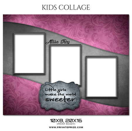 ALISSA TROY- KIDS COLLAGE - Photography Photoshop Template