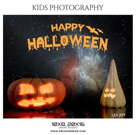 Lea Jeff - Happy Halloween Senior Enliven Effect - Photography Photoshop Template