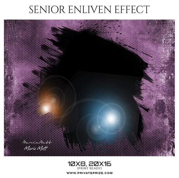 Maria Mett - Senior Enliven Effect Photography Template - Photography Photoshop Template