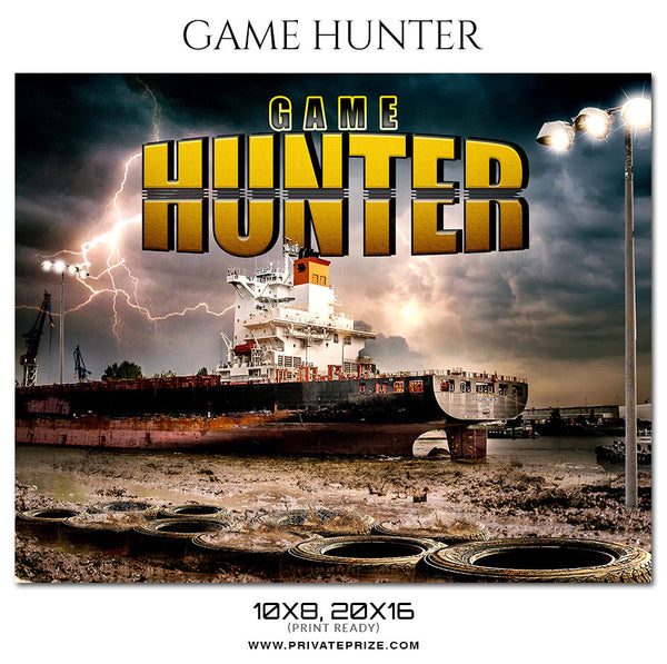 Game Hunter Sports Theme Sports Photography Template - Photography Photoshop Template