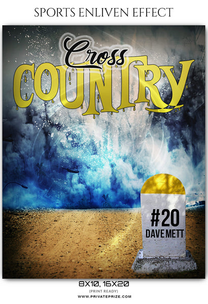 Dave Mett Cross Country - Athletics Sports Enliven Effect Photography Template - Photography Photoshop Template