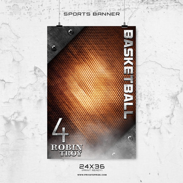 Robin Troy - 24X36 -Basketball-Enliven Effects Sports Banner Photoshop Template