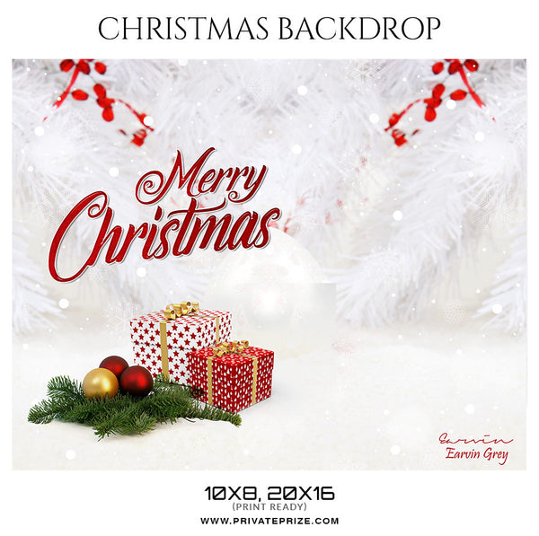 Earvin Grey - Christmas Digital Backdrop - Photography Photoshop Template
