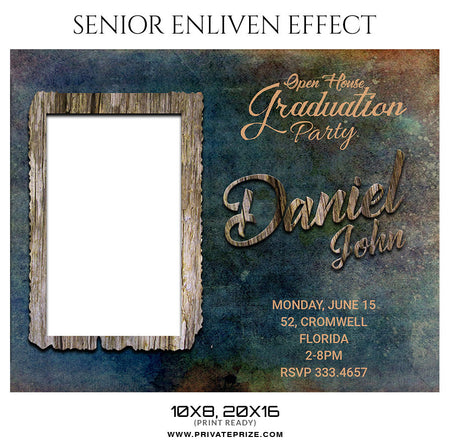 DANIEL JOHN - SENIOR ENLIVEN EFFECT - Photography Photoshop Template