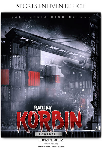 Radley Korbin - Football Sports Enliven Effects Photoshop Template - Photography Photoshop Template
