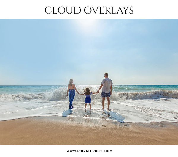 Cloud Overlay -Marine - Photography Photoshop Template
