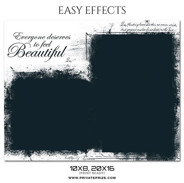 BEAUTIFUL EASY EFFECTS - Photography Photoshop Template