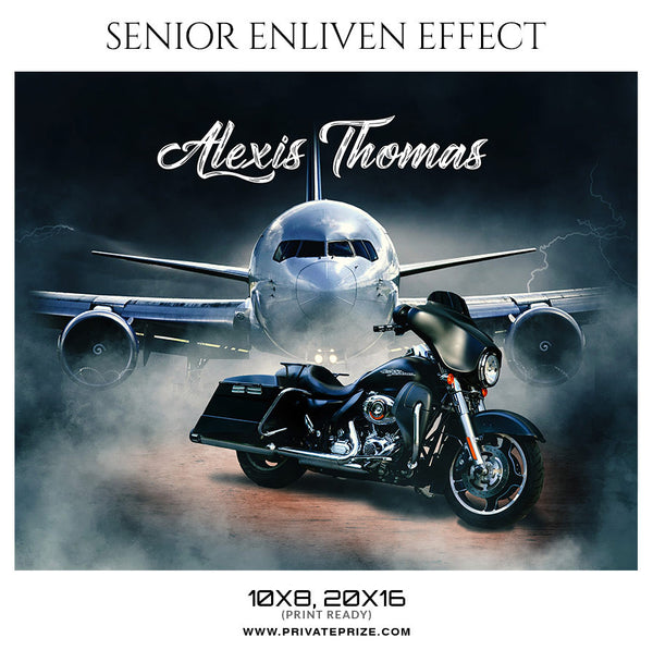 ALEXIS THOMAS - SENIOR ENLIVEN EFFECT - Photography Photoshop Template
