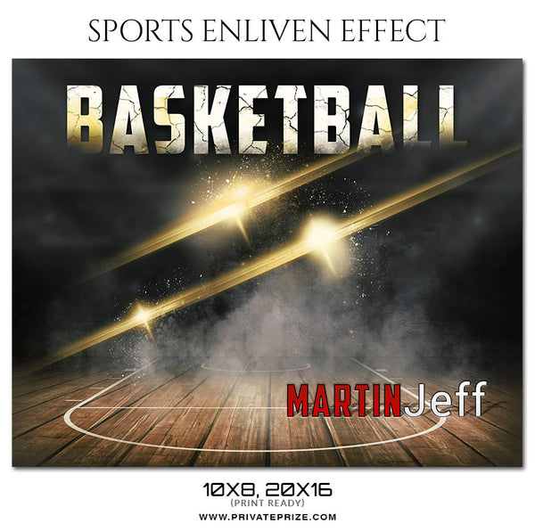 Martin Jeff Basketball Themed Sports Photography Template