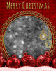 Merry Christmas Red Digital Photography Backdrop - Photography Photoshop Template