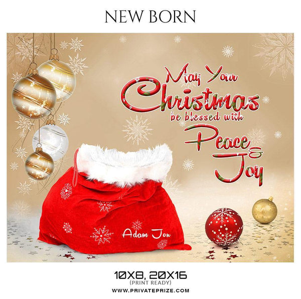 Adam Jon - Christmas New Born Photography Digital Backdrop