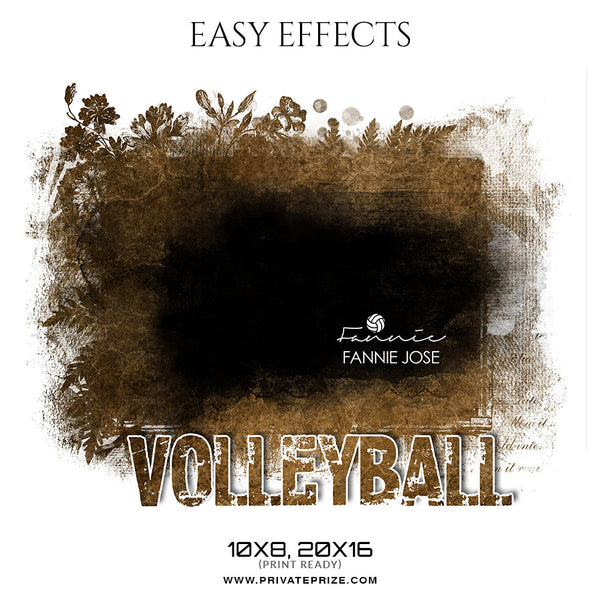 Fannie Jose - Volleyball Easy Effect Sports Photography Template - Photography Photoshop Template